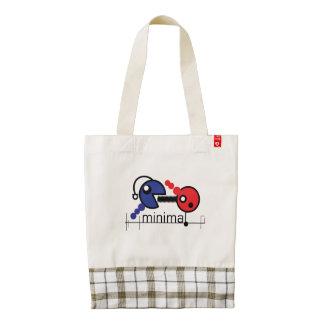 minimal zazzle HEART tote bag
