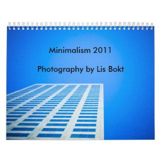 Minimalism 2011 calendarios de pared