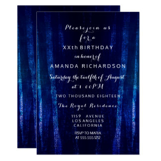 Minimalism Black Blue Navy Event Surprise Abstract Card