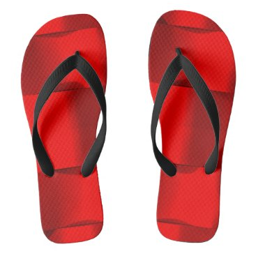 Beach Themed Minimalism Conceptual Abstract Red Black Flip Flops