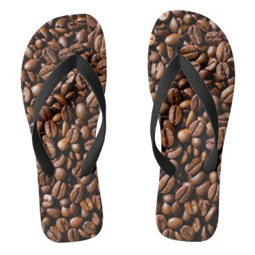 Beach Themed Minimalism Conceptual Coffee Beans Shop Flip Flops