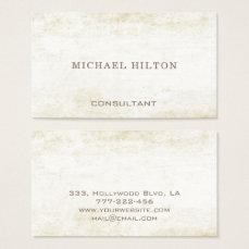 Minimalism elegant plain brushed stone business card