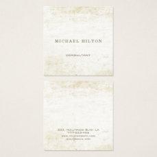 Minimalism elegant plain brushed stone square business card