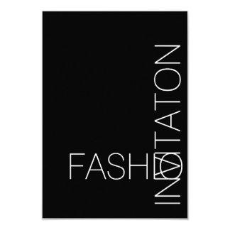 Minimalism Fashion Event Glam Black and White Card