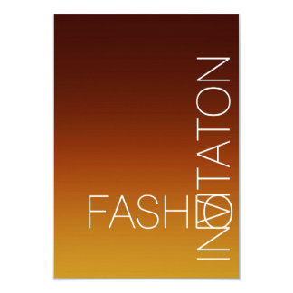 Minimalism Fashion Event Glam Brown Autumn Ombre Card