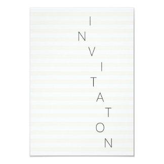 Minimalism Fashion Event Glam Ivory Stripes White Card