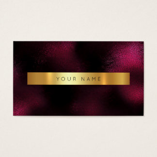 Minimalism Glam Red Wine Gold Metallic Vip Business Card