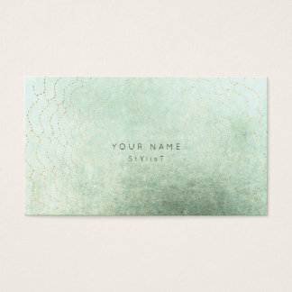 Minimalism Golden Circles Abstract Greenly Vip Business Card