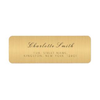Minimalism Golden Foil Return Address Labels