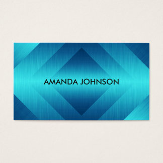 Minimalism Metallic Blue Marine Vip Business Card