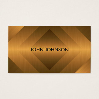 Minimalism Metallic Gold Marine Vip Business Card