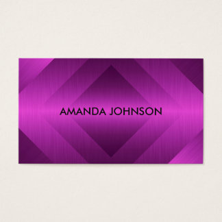 Minimalism Metallic Pink Vip Business Card