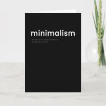 Minimalism Minimalism Card