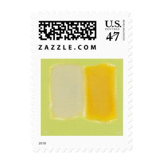 Minimalism modern painting art sunny warm color postage