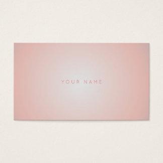 Minimalism Monochromatic Powder Pink Coral Vip Business Card