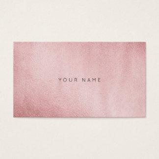 Minimalism Monochromatic Powder Pink Gold Vip Business Card