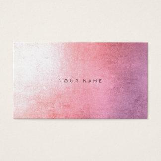 Minimalism Monochromatic Powder Pink Ombre Vip Business Card