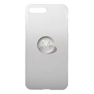 Minimalism Monogram Monochromatic Gray Ombre Ball iPhone 8 Plus/7 Plus Case