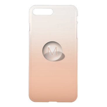 Beach Themed Minimalism Monogram Monochromatic Peach Ombre Ball iPhone 7 Plus Case
