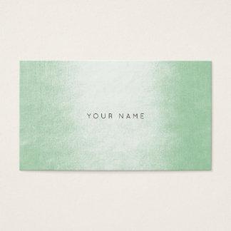 Minimalism Pastel Mint Green White Vip Business Card