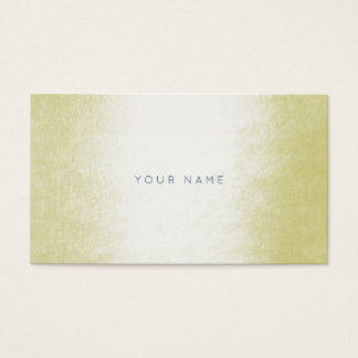 Minimalism Pastel Yellow Grass White Vip Business Card