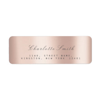 Minimalism Pink Rose Blush Return Address Labels