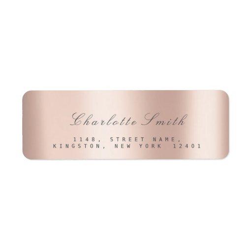 Minimalism Pink Rose Blush Return Address Labels