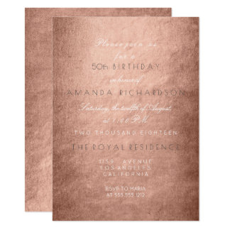 Minimalism Powder Pink Rose Gold Birthday Card