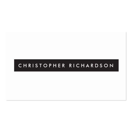 Minimalism profesional en blanco y negro de lujo tarjetas de visita
