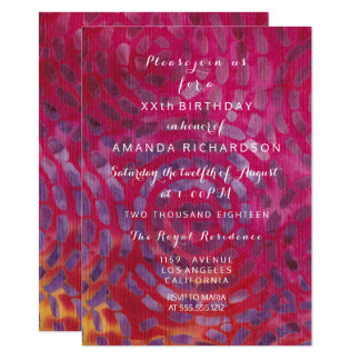 Minimalism Red Candy Batik Tropical Pink Birthday Card