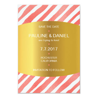 Minimalism Save The Date Candy Golden Vip Card