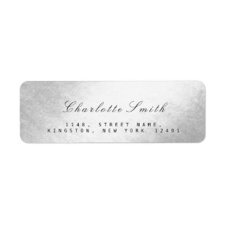 Minimalism Silver Foil Return Address Labels