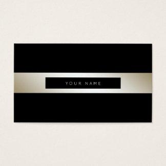 Minimalism Stripes Silver Pearl  Black Vip Business Card