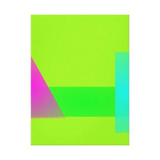 Minimalism verde claro impresiones en lienzo estiradas