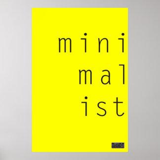 MiniMalIst 003 - Poster de encargo del color de fo