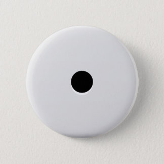 Minimalist Abstract Single Dice Pip Pinback Button