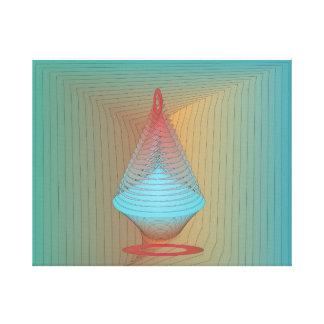 Minimalist Aqua Red Vessel>Canvas Print