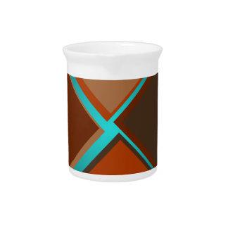 Minimalist Art Fashion Turquoise Autumn Colors 4 Beverage Pitcher