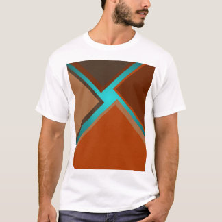 Minimalist Art Fashion Turquoise Autumn Colors 5 T-Shirt