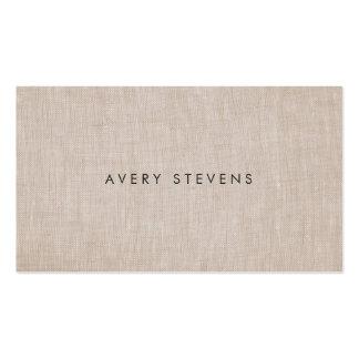 Minimalist Artist Simple Plain Linen Business Card