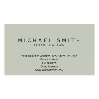 Minimalist Attorney at Law Business Card