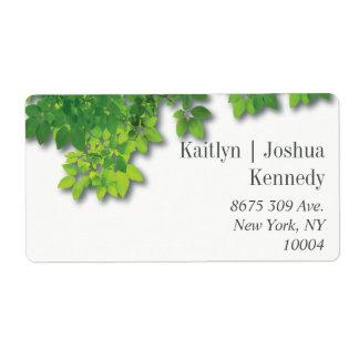 Minimalist Autumn Oak Wedding Address Label