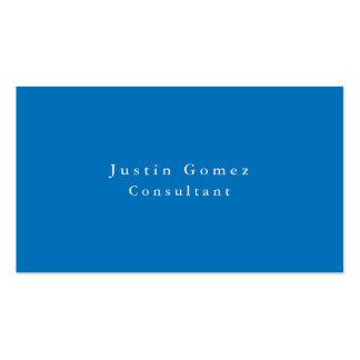 Minimalist azul español elegante llano simple tarjetas de visita