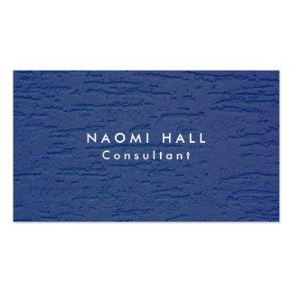 Minimalist azul moderno elegante llano simple de tarjetas de visita