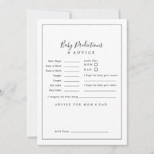 minimalist baby shower baby predictions advice card r65a0dbb7482a487f9927f748fa4c3af3 tcvt0 307