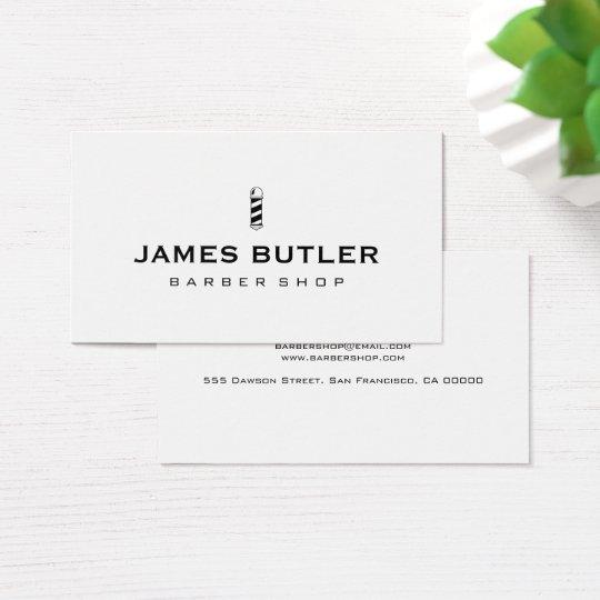 Minimalist barber shop business card zazzle minimalist barber shop business card reheart Choice Image
