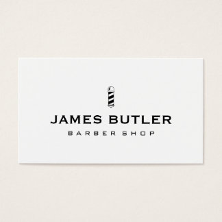 Minimalist Barber Shop Business Card