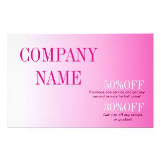 Minimalist beauty cosmetology blush pink ombre flyer