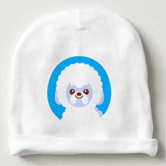 Minimalist Bichon Frise Kawaii Dog Cartoon Baby Beanie