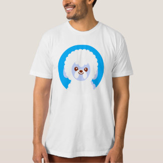 Minimalist Bichon Frise Kawaii Dog Cartoon T-shirts